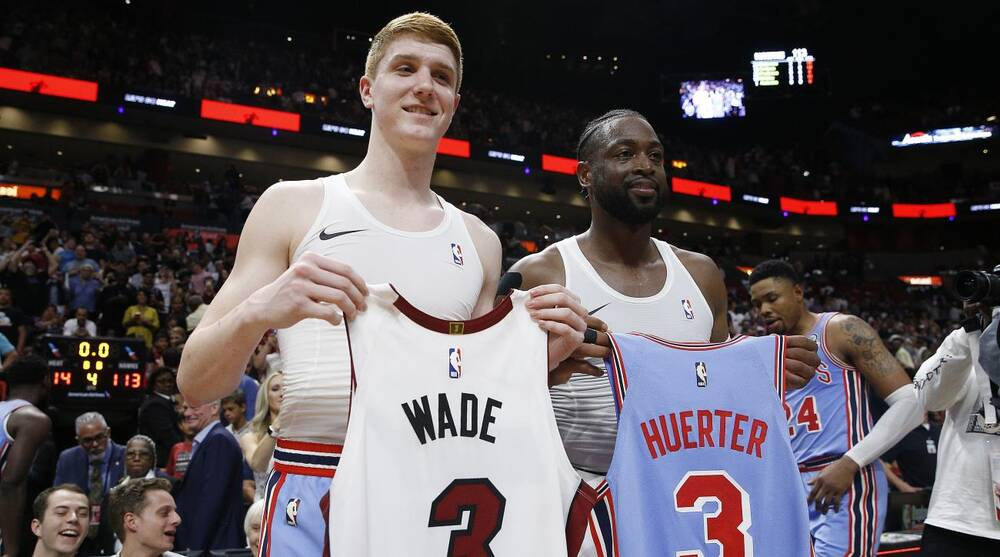 release date: beab8 3d128 Dwyane Wade swaps jerseys with Kevin Huerter after Heat ...