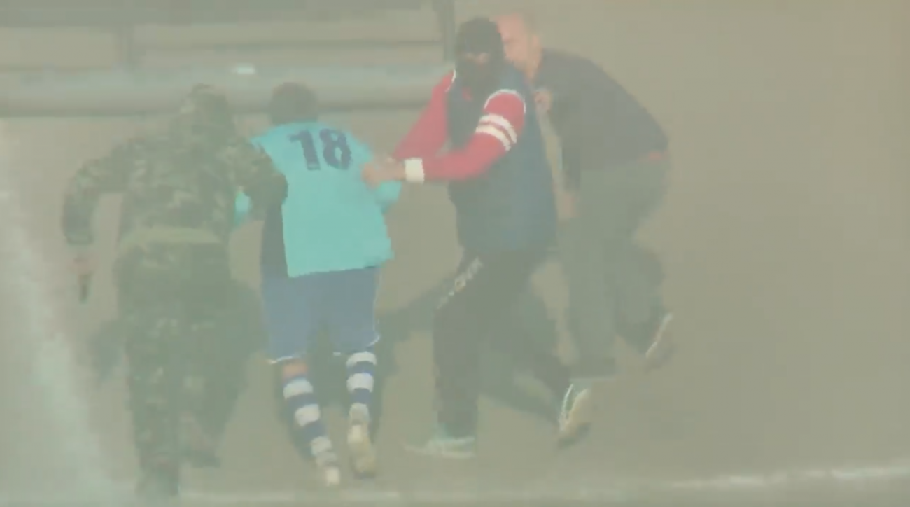 Italian soccer player kidnapped in helicopter (video)