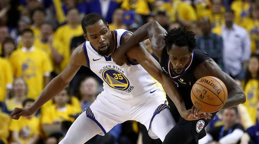 site réputé f0e6b f8085 NBA playoffs: Kevin Durant, Patrick Beverley ejected in Game ...