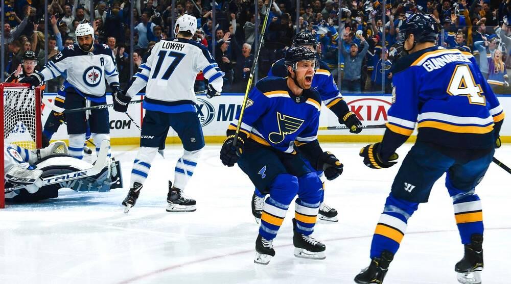 best loved adc5e 9b476 NHL playoffs recap: Blues eliminate Jets; Stars, Caps take ...