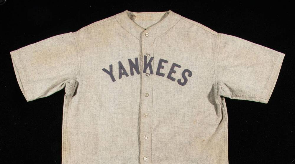 official photos e134e fbc32 Babe Ruth jersey expected to sell at auction for over $4.5 ...