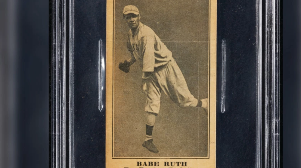 Babe Ruth 1916 Rookie Card Sells For 130053 At Auction