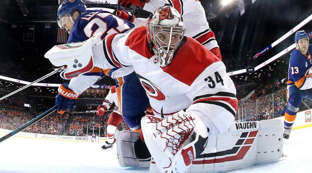Nhl Playoffs Hurricanes Petr Mrazek Back At Practice After Injury