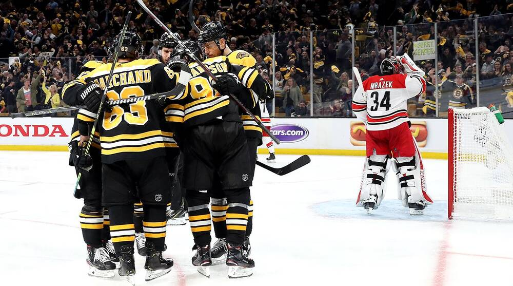 Nhl Playoffs Bruins Win Game 1 Vs Hurricanes In Eastern Conference