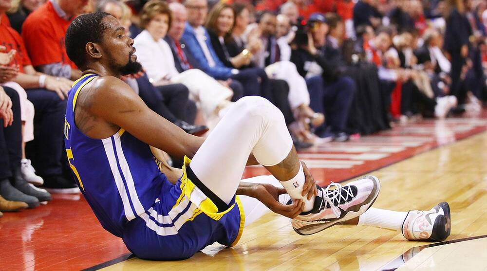 cf8543c4 Kevin Durant Achilles injury: Warriors star visits doctors in New ...