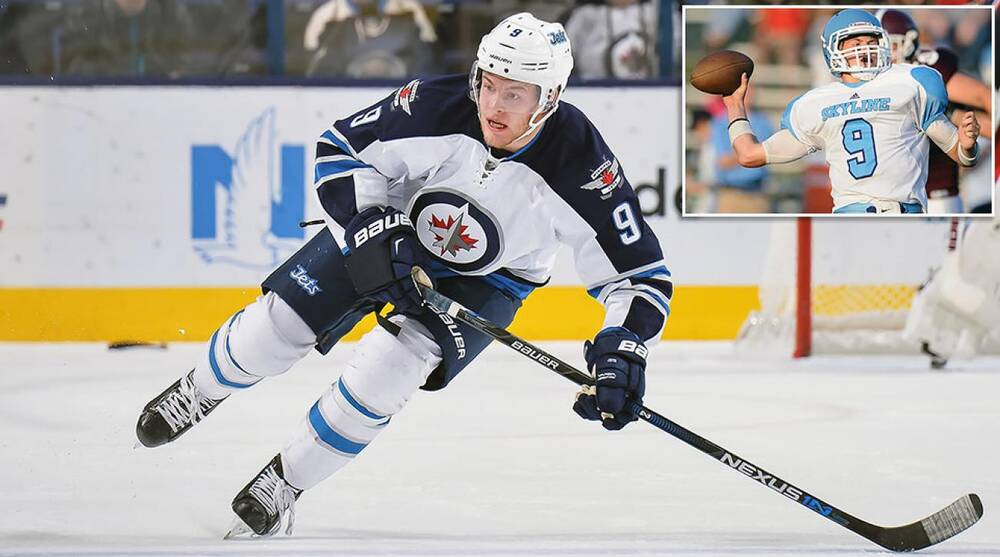 timeless design 1d732 1d988 Football part of Andrew Copp's path to NHL's Winnipeg Jets ...