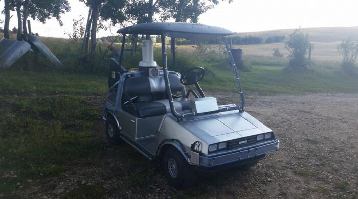 Back To The Future golf cart means infinite mulligans | SI.com Golf Cart Back on golf players, golf tools, golf games, golf words, golf buggy, golf trolley, golf cartoons, golf card, golf girls, golf handicap, golf machine, golf hitting nets, golf accessories,