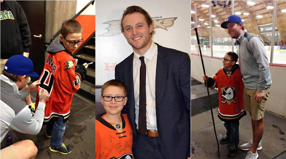 f0c7e2da3 Anaheim Ducks' Cam Fowler meets kid Cam Fowler | SI.com
