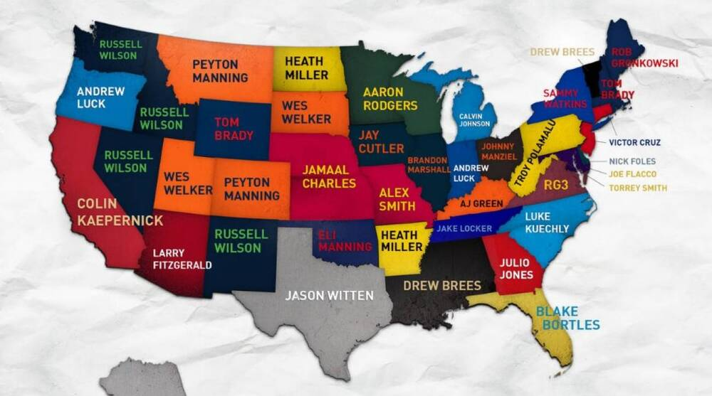 c75ac3e7206 Map shows each state's best-selling NFL jersey among women. Reddit  Flipboard WhatsApp Email Copy Link Print. via Dick's Sporting Goods