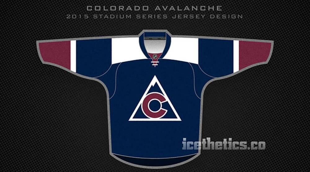 Chris Smith Icethetics.com via Twitter. The Colorado Avalanche s 2016 Stadium  Series jersey ... f90adc736ae