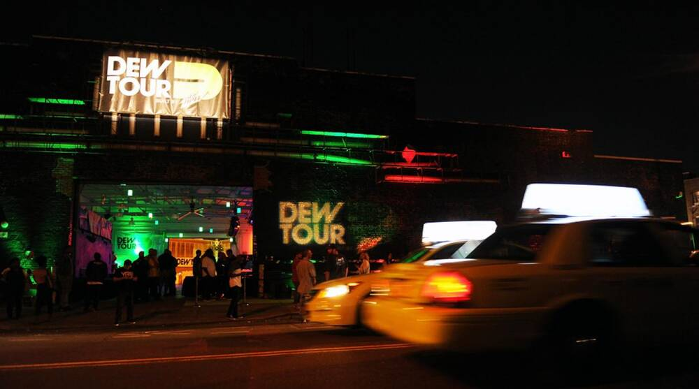 683f8d25b07 The atmosphere at the Dew Tour Brooklyn Kickoff Party on Thursday
