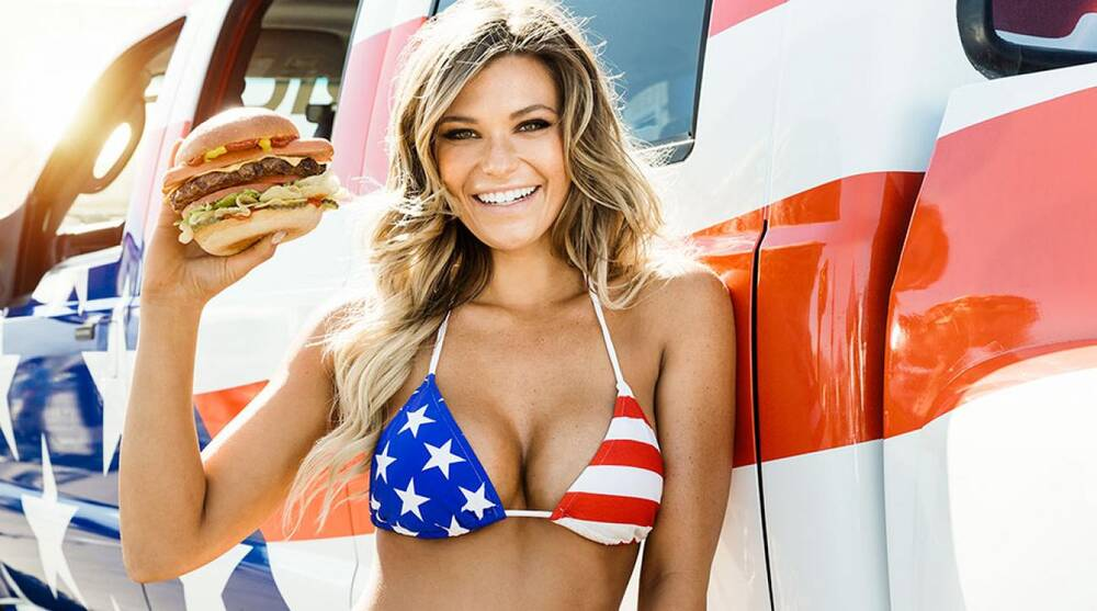 55da3eb7ae Embrace all there is to love about America with Samantha Hoopes  new  commercial for Carl s Jr.