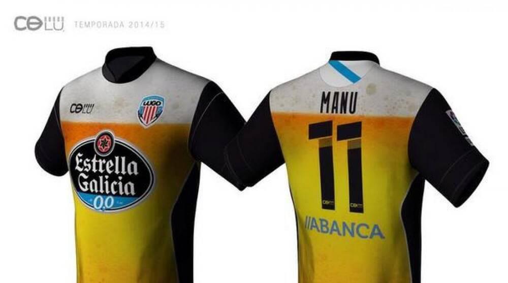 720bcdcf96b Spanish soccer team CD Lugounveils alternate jerseys featuring beer ...