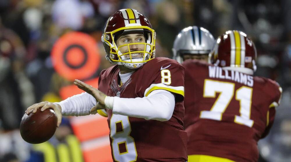 81d2c93e1 Washington Redskins quarterback Kirk Cousins (8) passes the ball during the first  half of