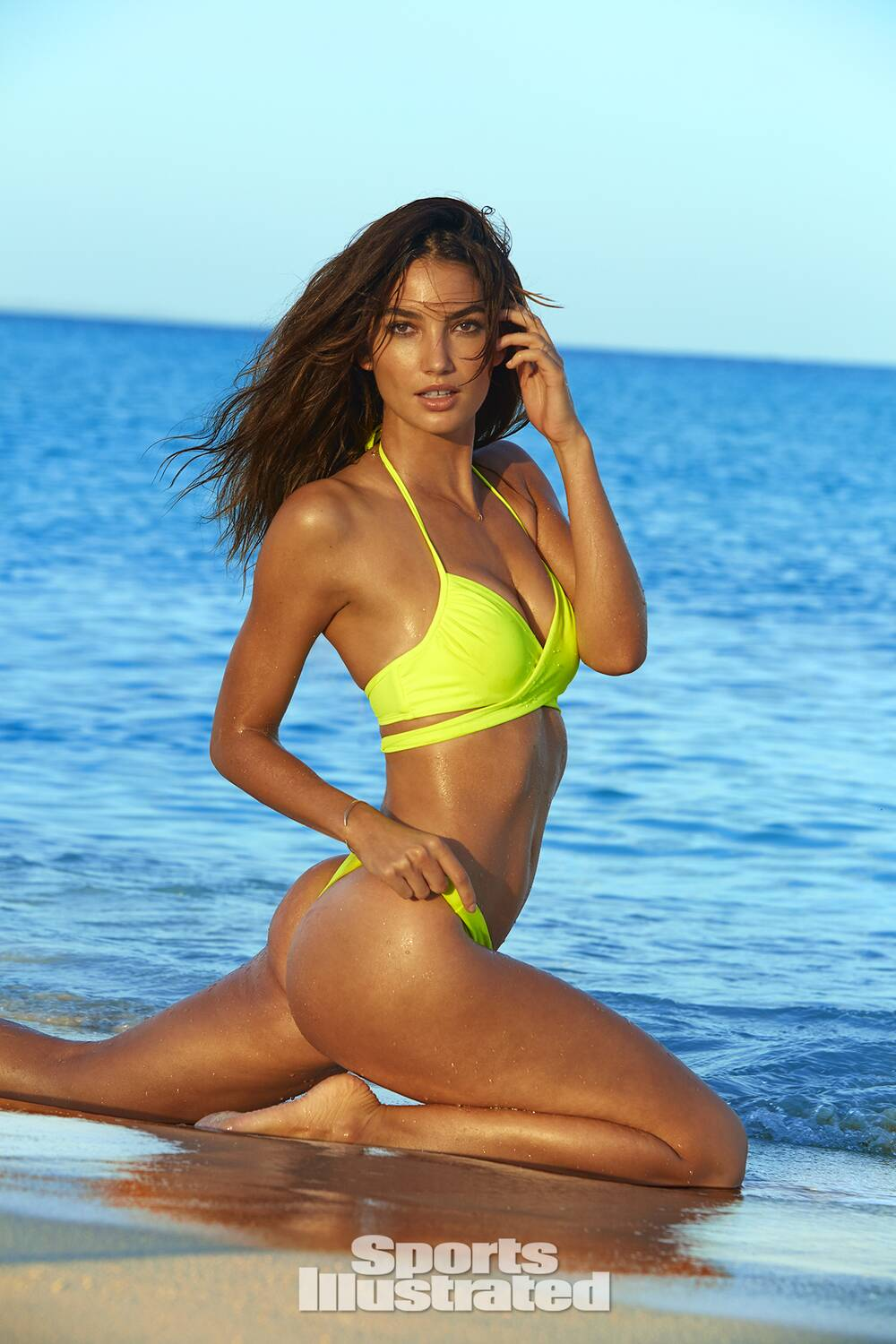 15e5ba7bfdc Lily Aldridge was photographed by James Macari in Turks & Caicos. Swimsuit  by Victoria's Secret
