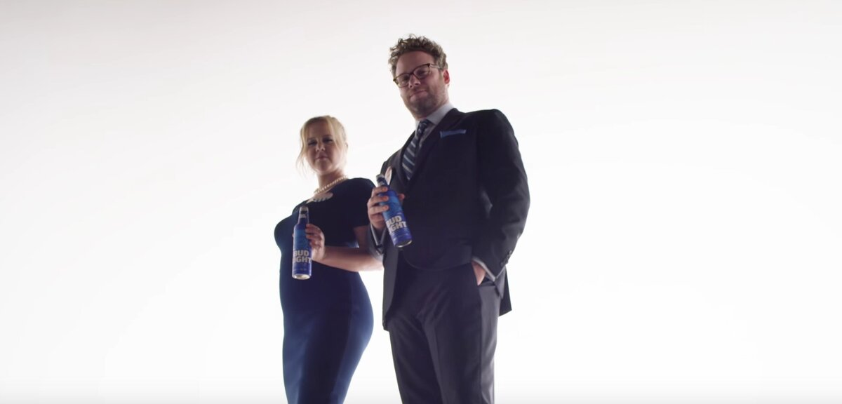 Amy schumer and seth rogens bud light ad might be the best reason on thursday bud light posted a teaser video to its youtube channel featuring two of our favorite people in the entire world amy schumer and seth rogen mozeypictures Images