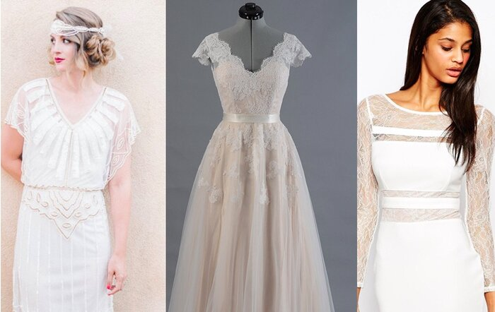 17 seriously stunning wedding dresses under 500 hellogiggles junglespirit Image collections