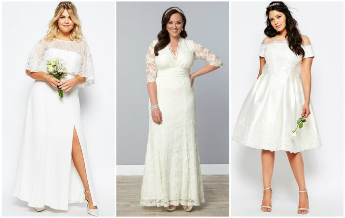 12 Gorgeous Plus Size Wedding Dresses All Under 500 Hellogiggles
