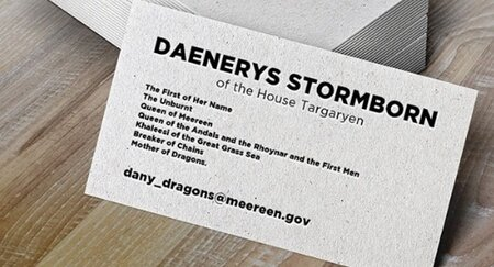 A Brilliant Game Of Thrones Fan Made Dany These A Business Cards