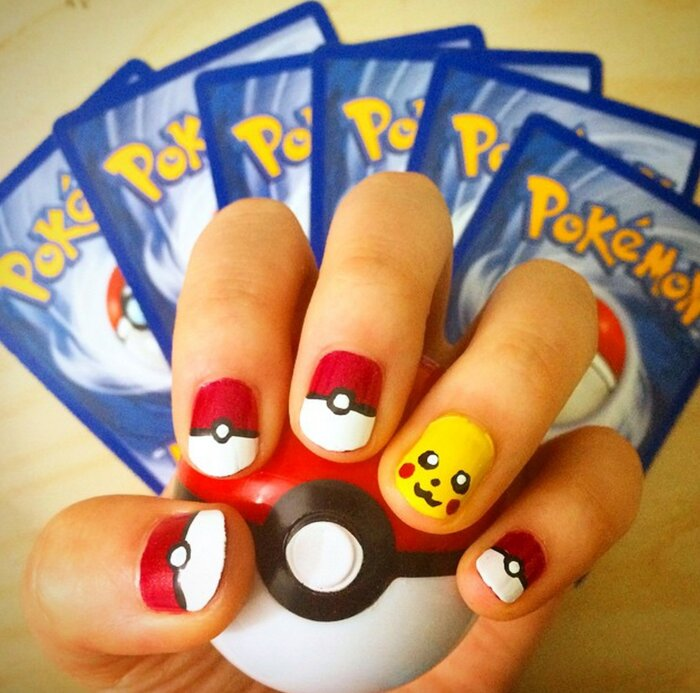 These Pokémon nail art designs make us forget all about wanting to catch  'em all - HelloGiggles - These Pokémon Nail Art Designs Make Us Forget All About Wanting To