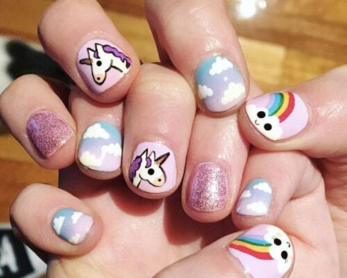 - These Unicorn Manicures Are Everything We Need Right Now - HelloGiggles