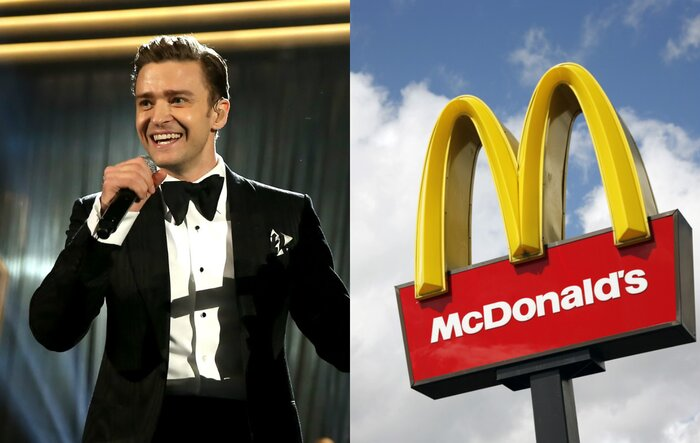 justin timberlake sang the mcdonald s theme song and 7 other things