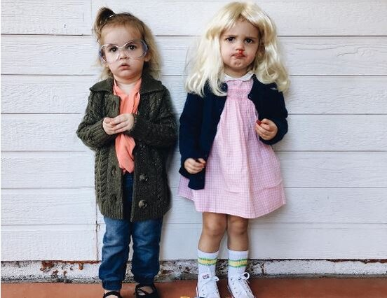 these twin babies coordinated halloween costumes are serious goals hellogiggles