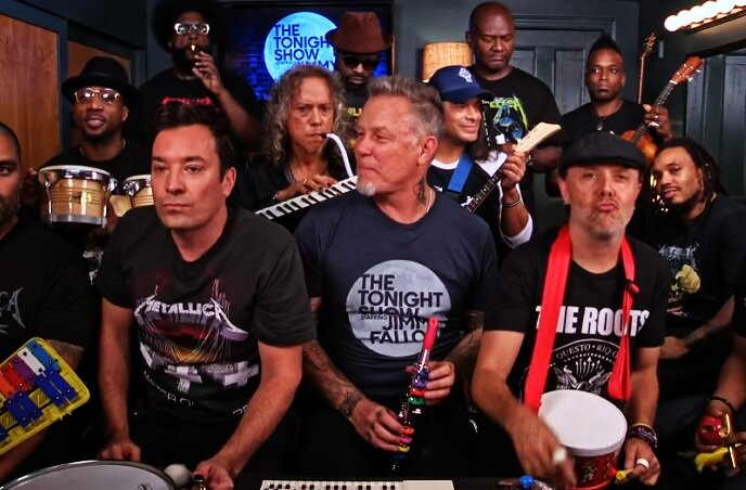 This Video Of Jimmy Fallon Rocking Out With Metallica On Classroom