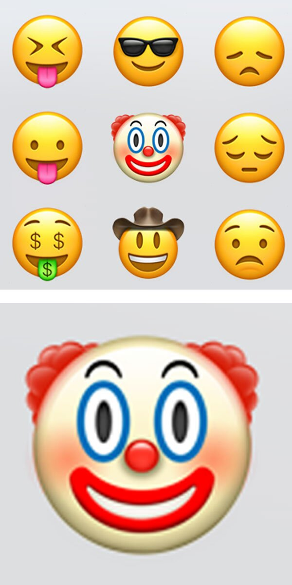 Theres A New Creepy Clown Face Emoji And We Seriously Need To Talk