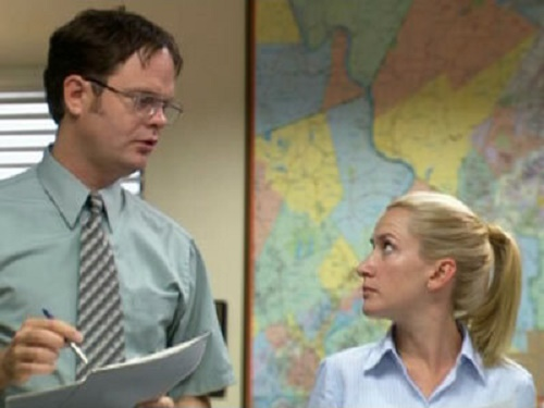 Image result for the office angela and dwight