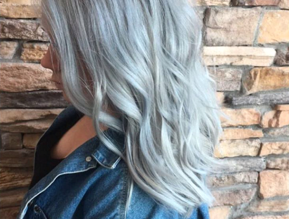 This Silver Blue Hair Is Giving Us Straight Up Winter Vibes Hellogiggles