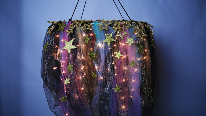 This diy galaxy chandelier will really improve your space hellogiggles aloadofball Choice Image