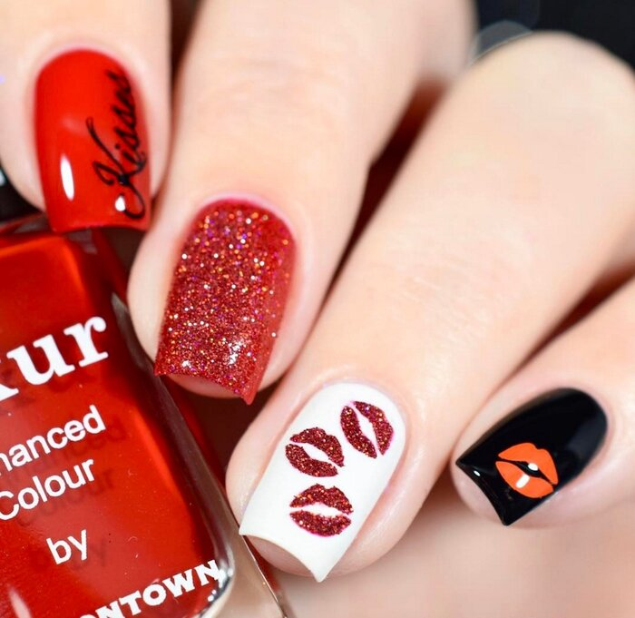 14 Valentine's Day-inspired nail designs to get you in the spirit of love -  HelloGiggles - 14 Valentine's Day-inspired Nail Designs To Get You In The Spirit Of