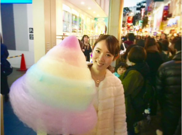 this giant rainbow cotton candy is half the size of a person s body