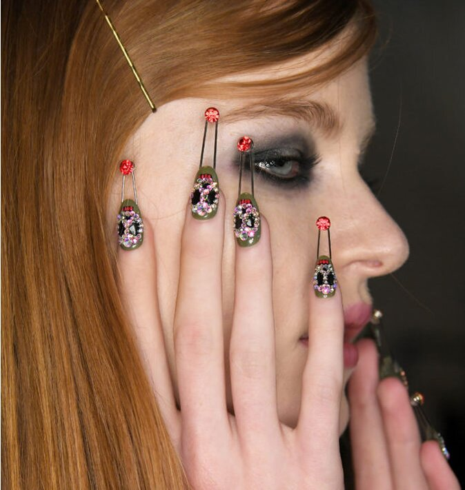This Nail Art From Nyfw Is Punk Rock Meets Avant Garde Hellogiggles