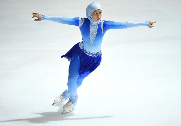 zahra lari is the first professional figure skater to compete