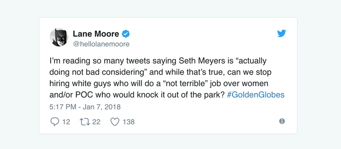 These Tweets About Seth Meyers Hosting The Golden Globes Are Spot On