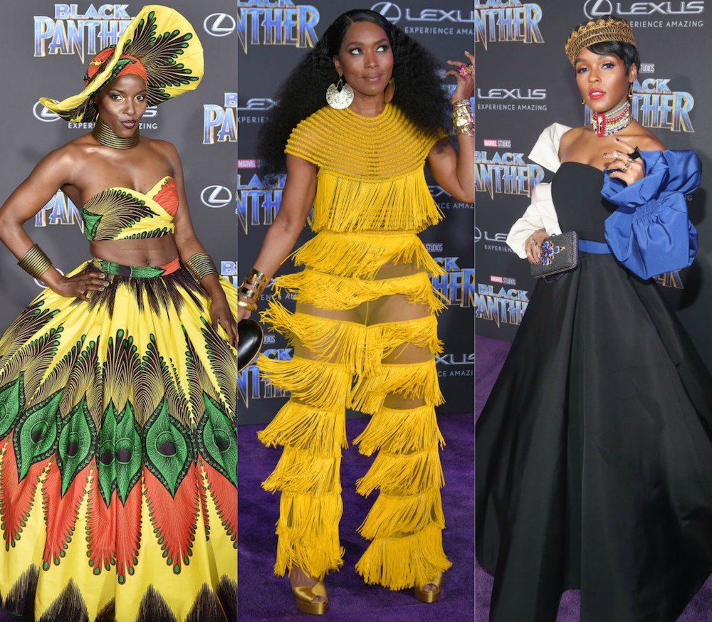 Image result for black panther premiere outfits