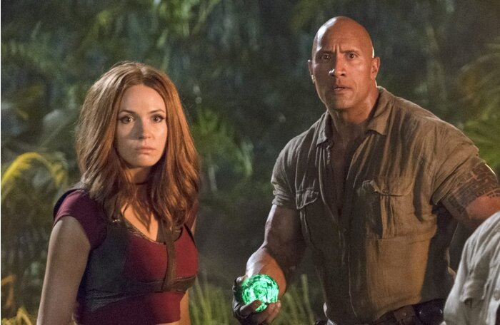 Karen gillan thinks her kiss with the rock in jumanji was pretty sony stopboris Gallery