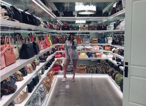 We Calculated How Much Kylie Jenners Handbag Closet Is Worth