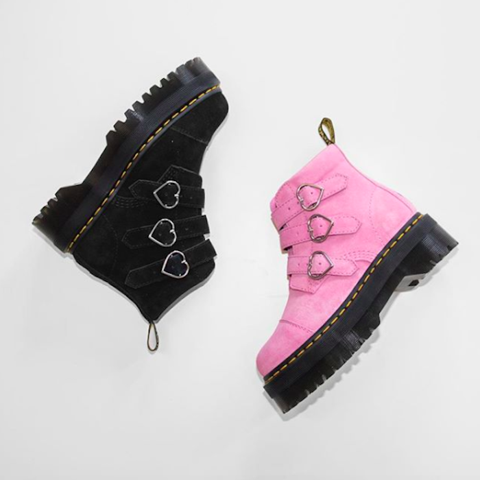 Are The Goth Glam Dr Martens X Lazy Oaf Boots Sold Out Heres How To Get Heart Adorned Shoes