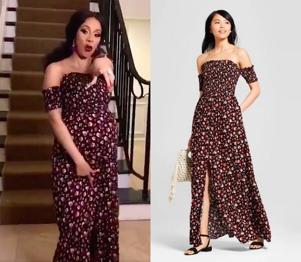 Cardi B Wore An Affordable Dress From Target And Its On Sale For