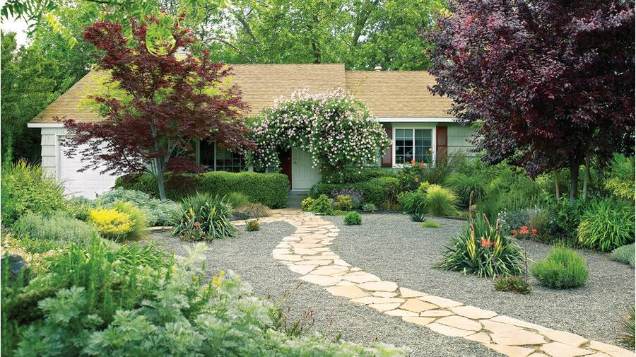 Easy-care front yard - Lessons From A Lawn-free Makeover - Sunset Magazine