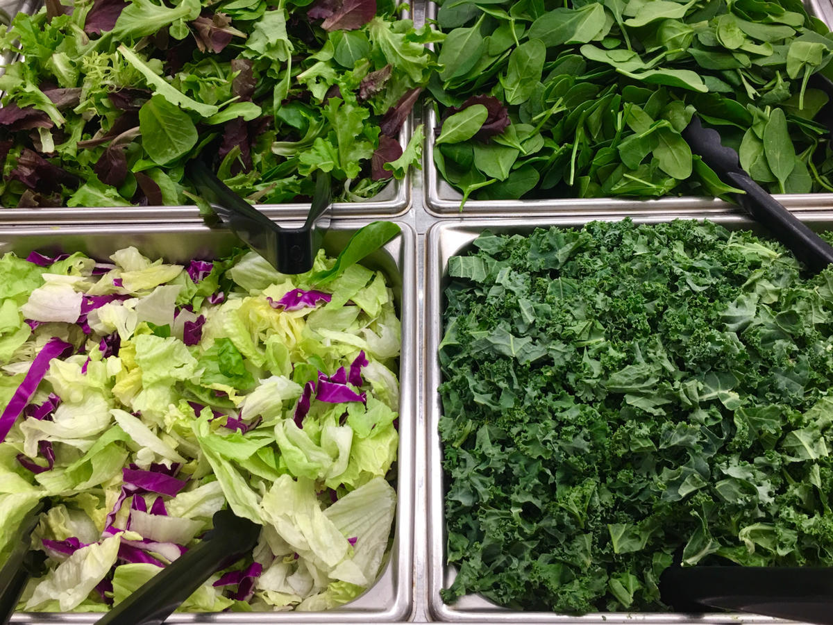 Salad Greens and Salad Bar