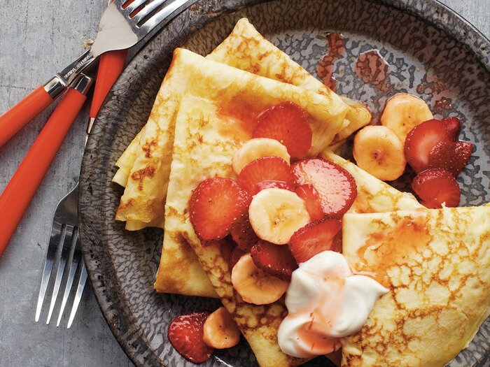 Our favorite french inspired recipes cooking light strawberry banana crepes recipe forumfinder Image collections