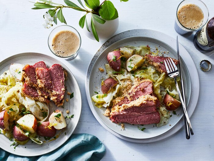 Healthy irish recipes for st patricks day cooking light corned beef and cabbage dinner recipe forumfinder Images