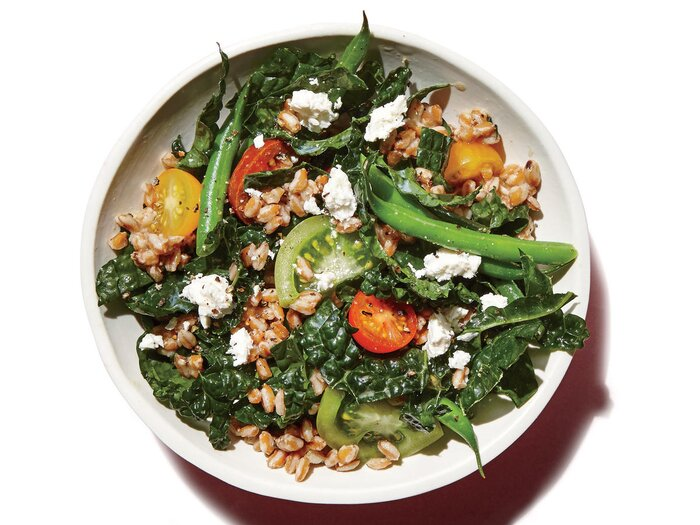 33 simple vegetarian recipes cooking light farro green bean and kale salad forumfinder Images