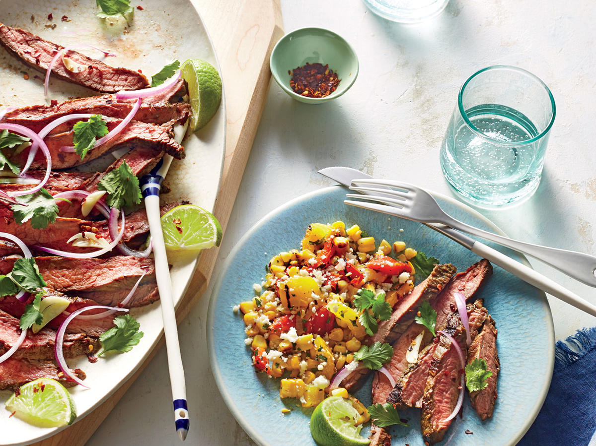 Grilled Corn and Bell Pepper Salad