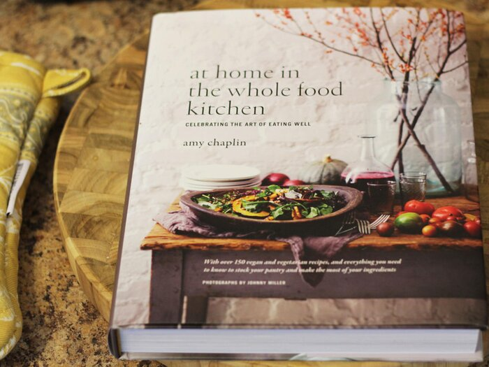 Cookbook corner at home in the whole food kitchen by amy chaplin together organic produce and the love of whole ingredients create the foundation for chef amy chaplins recipes in her vegetarian cookbook forumfinder Gallery