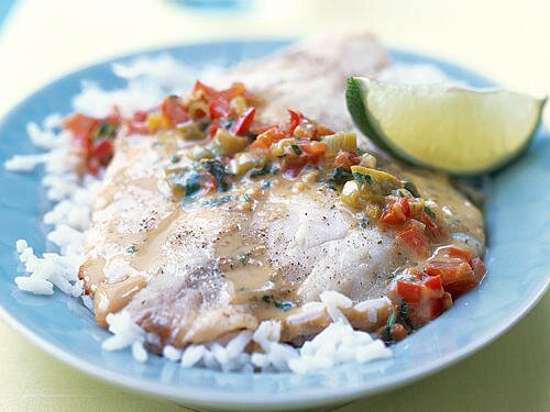 Top rated tilapia recipes cooking light broiled tilapia with thai coconut curry sauce forumfinder Images